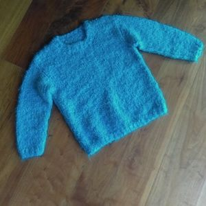 Hand knit girls sweater